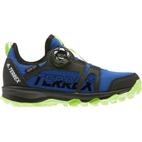 adidas TERREX Agravic Boa Rain.RDY Hiking Shoes Kids glory blue/footwear white/signal green